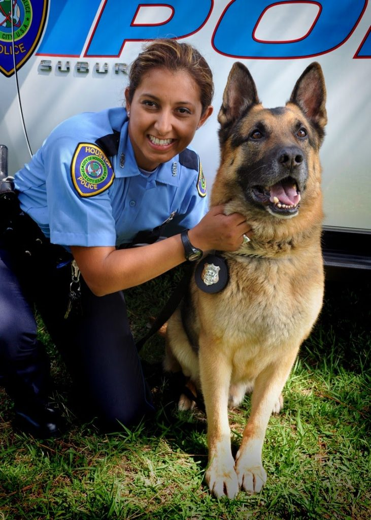 "Officer J. Abad and HPD K-9 ""Alpos"""